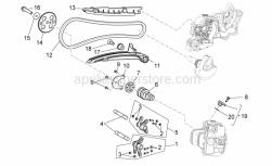 Engine - Front Cylinder Timing System - Aprilia - Cap screw+shank