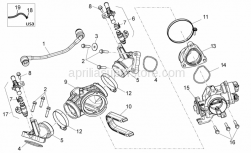 Engine - Throttle Body - Aprilia - Screw w/ flange M6x25