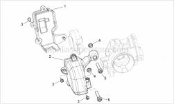 Engine - Throttle Body Protection - Aprilia - Throttle body rear lock