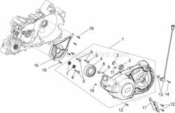 Engine - Transmission Cover - Aprilia - TRANSMISSION COVER WIT I.P.