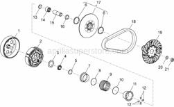 Engine - Transmission Iii - Aprilia - Cage  rouleaux