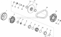 Engine - Transmission Iii - Aprilia - Driven mobile half-pulley