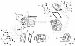 Engine - Valves Cover - Aprilia - Rear cylinder cover