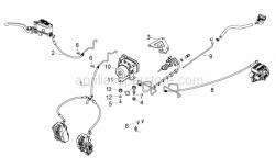 Frame - Abs Brake System - Aprilia - Front brake hose ABS