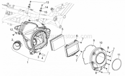 Frame - Air Box - Aprilia - Throttle body hose