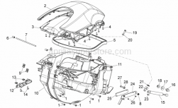 Frame - Central Body I - Aprilia - RH helmet compartment