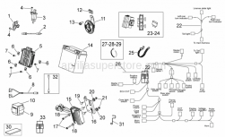 Frame - Electrical System Ii - Aprilia - Helmet compartm. light wiring