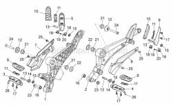 Frame - Foot Rests - Aprilia - Screw w/ flange M6x12