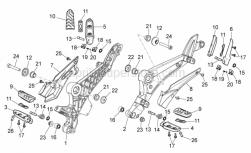 Frame - Foot Rests - Aprilia - Hex socket screw