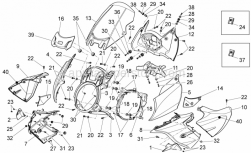 Frame - Front Body - Front Fairing - Aprilia - Steering lock cover