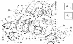 Frame - Front Body - Front Fairing - Aprilia - Air duct, decal aprilia