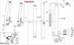 Frame - Front Fork Iii - Aprilia - Screw w/ flange