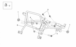 Frame - Front Frame - Aprilia - Screw w/ flange M8x40
