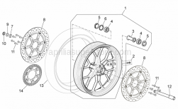 Frame - Front Wheel - Aprilia - Front RH wheel, outerspacer
