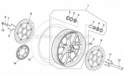 Frame - Front Wheel - Aprilia - Front/rear tyre 120/70-R17 Pirelli