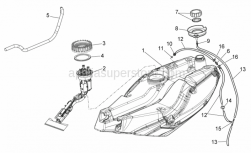 Frame - Fuel Tank - Aprilia - 3-way union