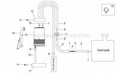 Frame - Fuel Vapour Recover System - Aprilia - Valve support clamp
