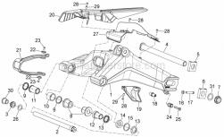 Frame - Swing Arm - Aprilia - RH chain guide plate