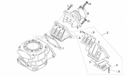 Engine - Carburettor Flange - Aprilia - Round screw M3x6