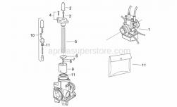 Engine - Carburettor I - Aprilia - Check pin clip plate
