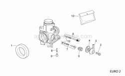 Engine - Carburettor Ii - Aprilia - Air intake union