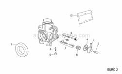 Engine - Carburettor Ii - Aprilia - Fuel pipe union cap
