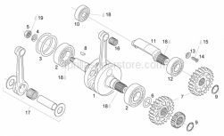 Engine - Crankshaft - Balance Shaft - Aprilia - Transmission key 4x5