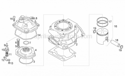 Engine - Cylinder - Head - Piston - Aprilia - Piston assy 53,99 mm