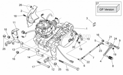 Engine - Engine - Aprilia - Black adh.cable guide