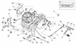 Engine - Engine - Aprilia - Front LH eng. plate