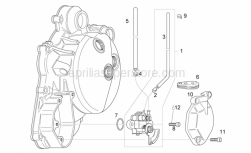Engine - Oil Pump - Aprilia - Rubber, wire cover