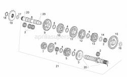 Engine - Transmission - Aprilia - Thrust washer 17,2/30/1