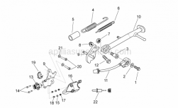 Frame - Central Stand - Aprilia - Stand pin