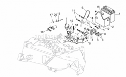 Frame - Electrical System Ii - Aprilia - Fuse block support