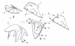 Frame - Front Body Ii - Aprilia - Screw w/ flange M5x16