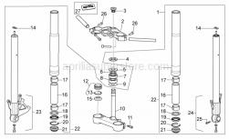 Frame - Front Fork - Aprilia - Roller bearing