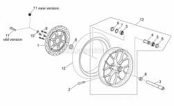 Frame - Front Wheel - Aprilia - Rear wheel spindle nut