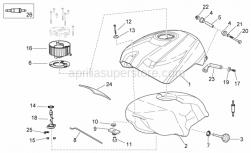 Frame - Fuel Tank - Aprilia - Fuel tank fastener rod
