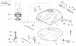 Frame - Fuel Tank - Aprilia - Washer 5,5x15x1,6