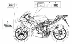 Frame - Plate Set And Handbook - Aprilia - TARGHETTA EMISSIONI SONORE