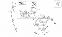 Frame - Rear Brake Caliper - Aprilia - Screw w/ flange M8x25