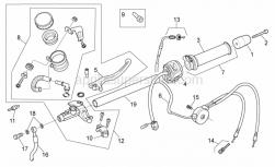 Frame - Rh Controls - Aprilia - Handgrip - pair