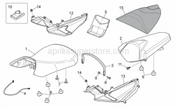Frame - Saddle Unit - Aprilia - Self-locking nut M6