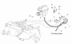 Frame - Secondary Air - Aprilia - Valve fixing support