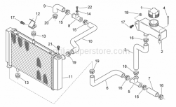 Frame - Water Cooler - Aprilia - Rubber spacer