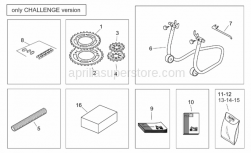 Accessories - Accessories Kit - Challenge Version - Aprilia - Chain ring Z=43