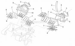 Engine - Carburettor Flange - Aprilia - Reed valve assy