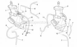 Engine - Carburettor I - Aprilia - RH throttle adjuster