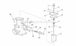 Engine - Carburettor Ii - Aprilia - Starter shutter