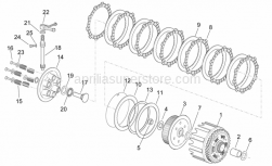 Engine - Clutch - Aprilia - Lined clutch disc sp.3
